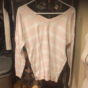 Old navy sweater good condition large pink/whitelg